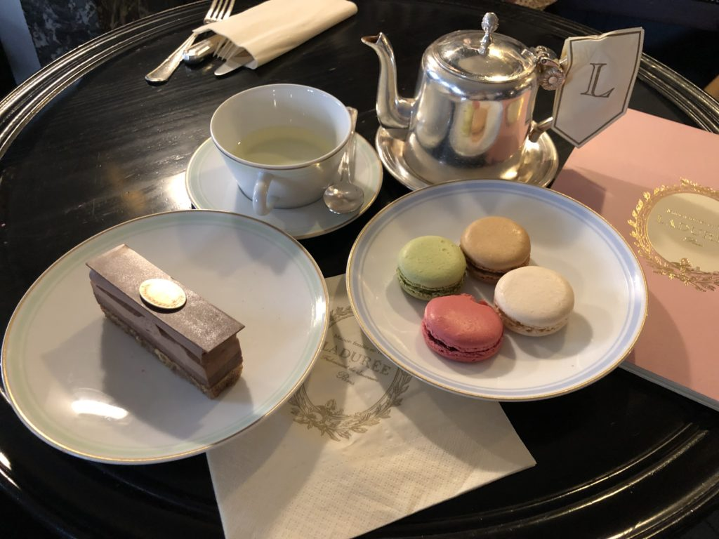 Ladurée macarons and dessert