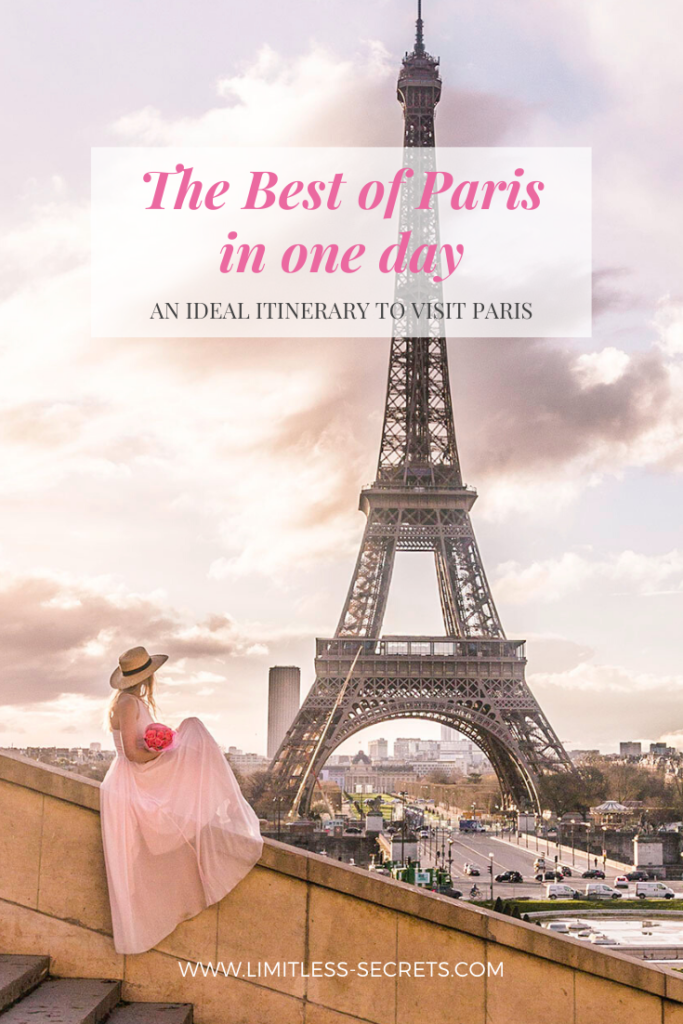 Get to see the Best Of Paris in one day! You are spending only a day in Paris and you want to make the most out of it? I am giving you the best itinerary of the places to see and to capture in one day! #paris #france #toureiffel #eiffeltower #trocadero | Paris travel guides | Paris photography | What to do in Paris | What to see in Paris | Best of Paris | Paris travel | Paris for first timer | Paris tourism | Paris landmarks |Tour Eiffel | Trocadero