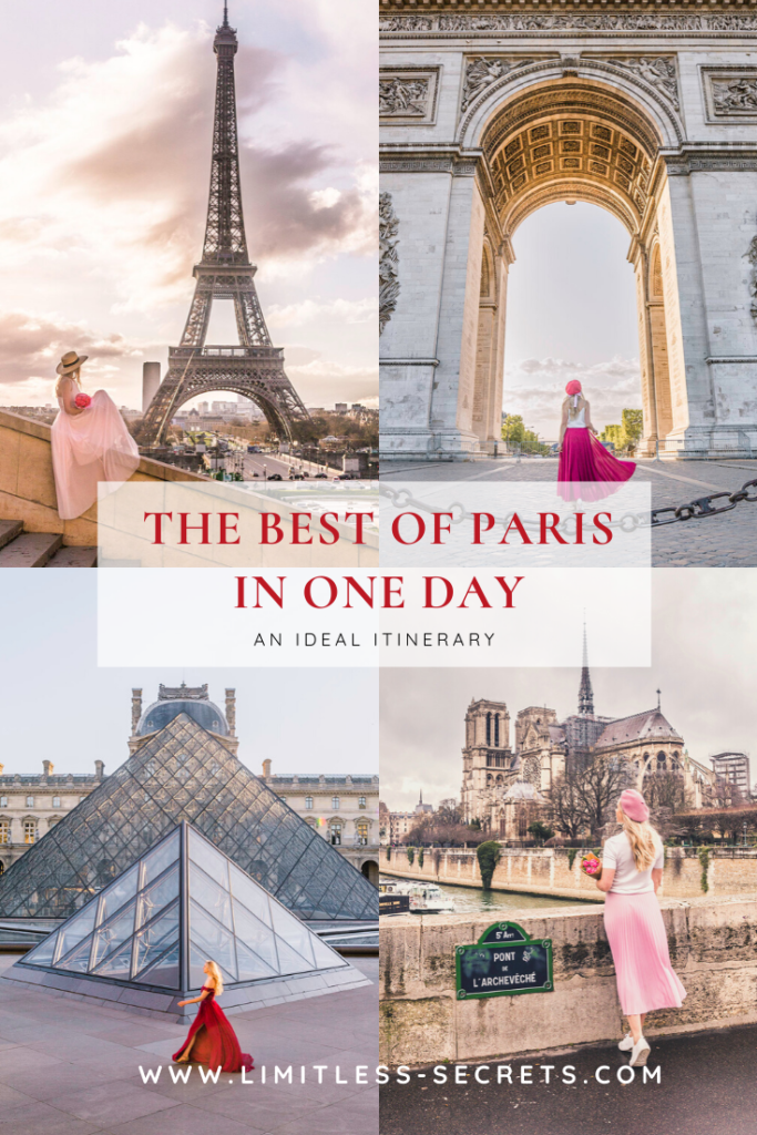 The best of Paris in One day! Get to see the Best Of Paris in one day! You are spending only a day in Paris and you want to make the most out of it? I am giving you the best itinerary of the places to see and to capture in one day! #paris #france | Paris travel guides | Paris photography | What to do in Paris | What to see in Paris | Best of Paris | Paris travel | Paris for first timer | Paris tourism | Paris landmarks