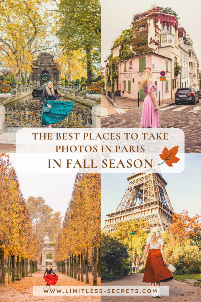 Here are the Best Instagram Photos Spots in Paris in Fall! Paris in France is such a beautiful city during the autumn season! The fall colors will turn the City of Love into a magical place! I have here gathered all the prettiest places to take Instagram photos if you visit Paris in Autumn. Paris photography | Paris travel guides | Visit Paris in fall | Paris in autumn | What to do in Paris in fall | Best things to do in Paris in fall