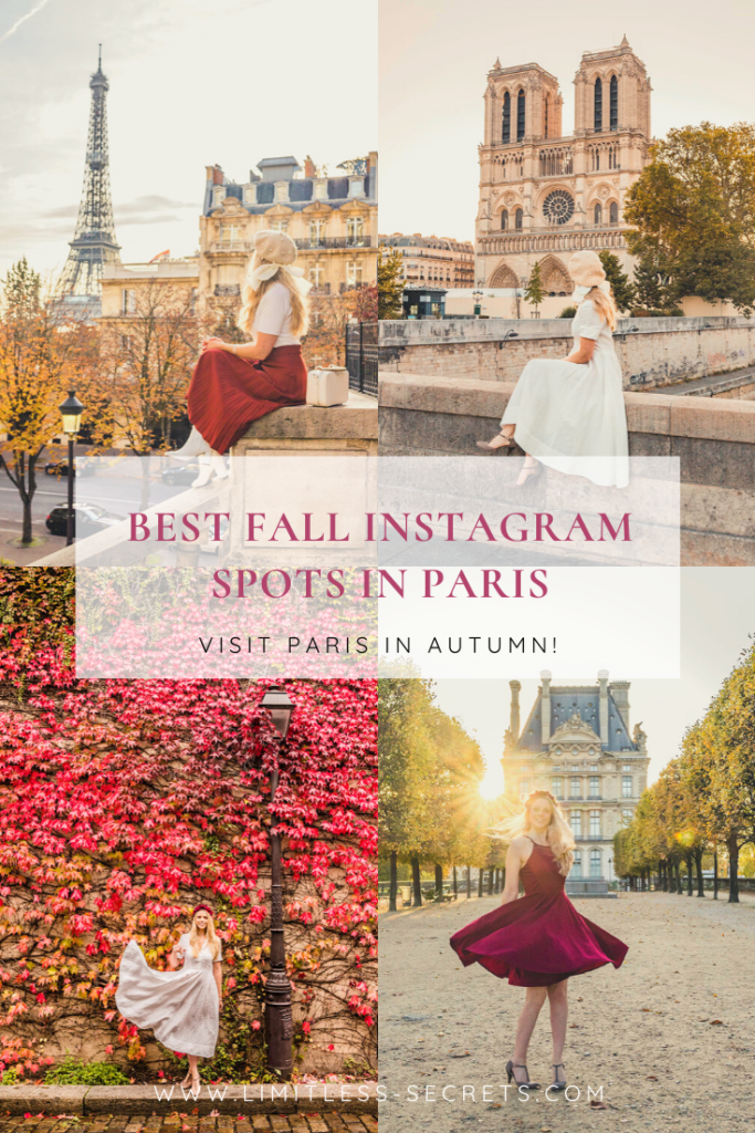 Best Fall Instagram spots in Paris Pin