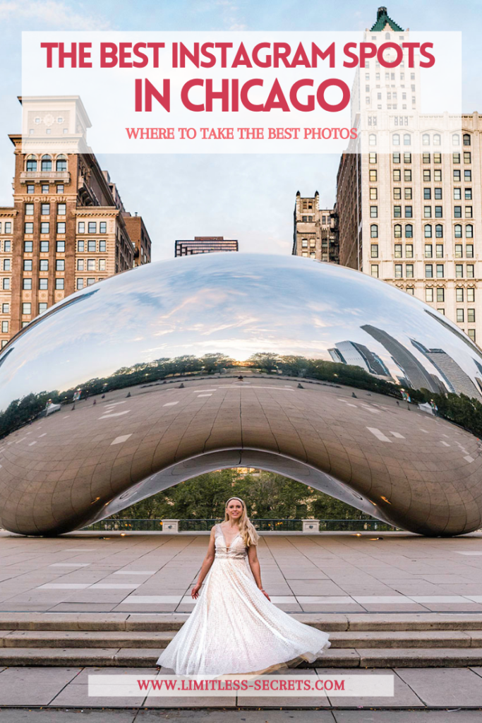 The Best Instagram Spots in Chicago! Here are the best places to take photos in the beautiful city of Chicago (USA). It includes all the famous landmarks, murals and much more! You will love to discover the most Instagrammable places in Chicago! Chicago photography | Chicago travel guide | Chicago trip | What to see in Chicago | Where to take photos in Chicago | The best of Chicago | where to take photos in Chicago | Photo spots in Chicago