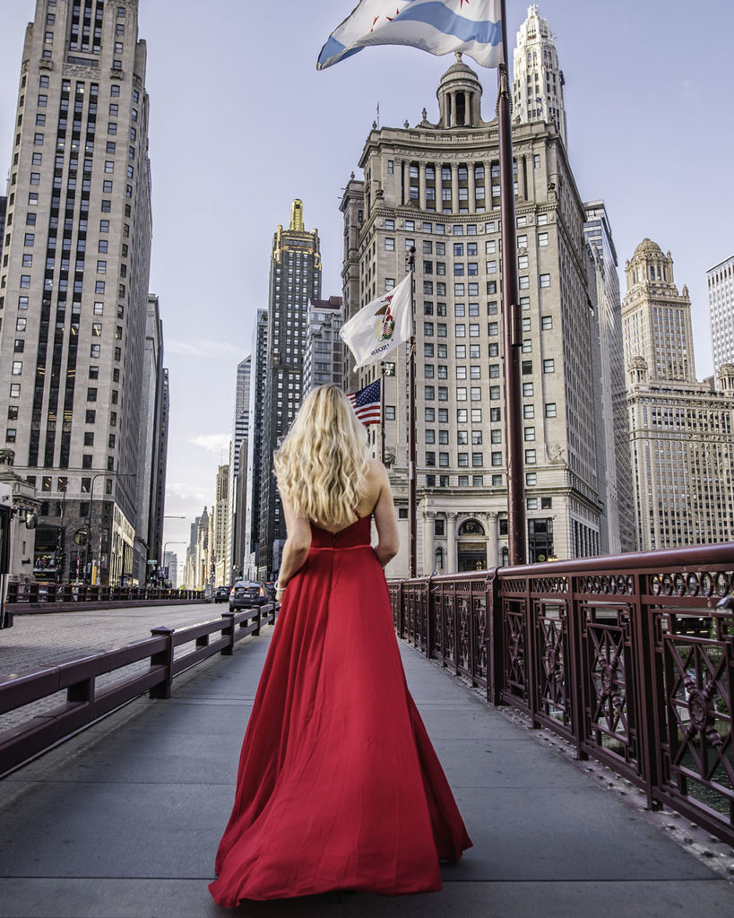 Magnificent Mile and Du Sable Bridge - Chicago