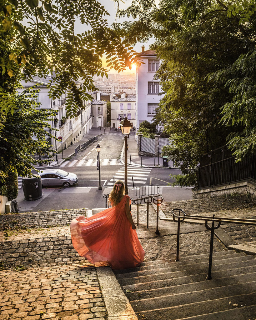 Paris in autumn - Staircase in Montmartre