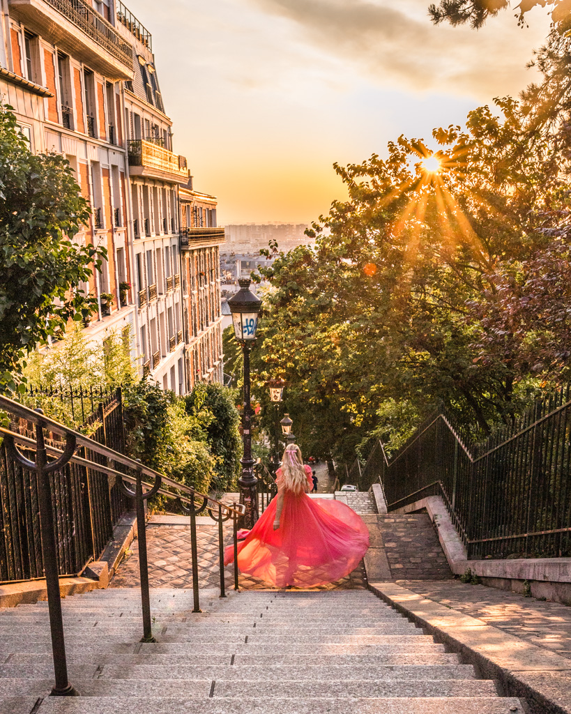 Staircase in Montmartre - Paris in fall