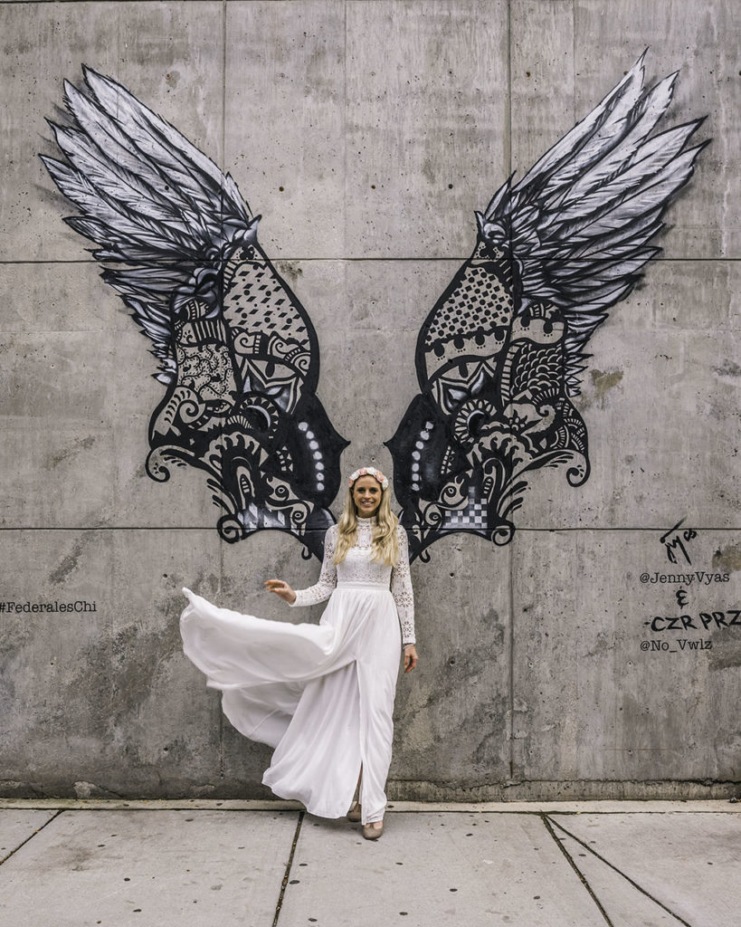 Angel wings mural - Chicago