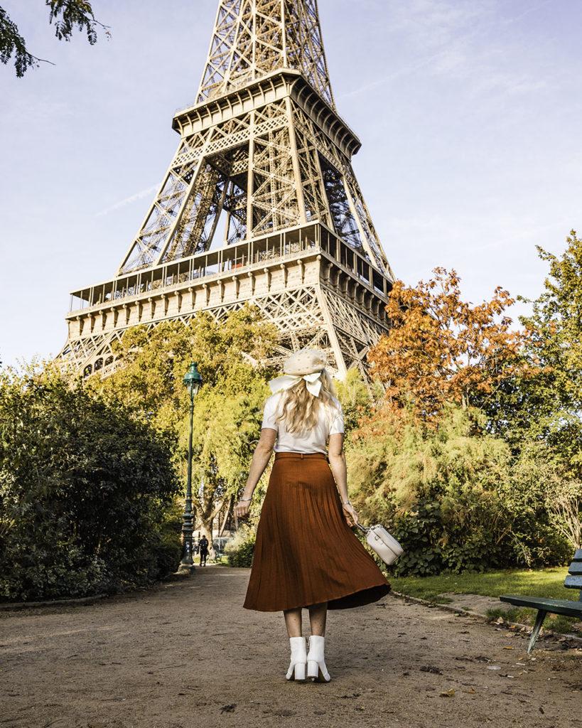 Paris in autumn - Eiffel Tower from Champ de Mars