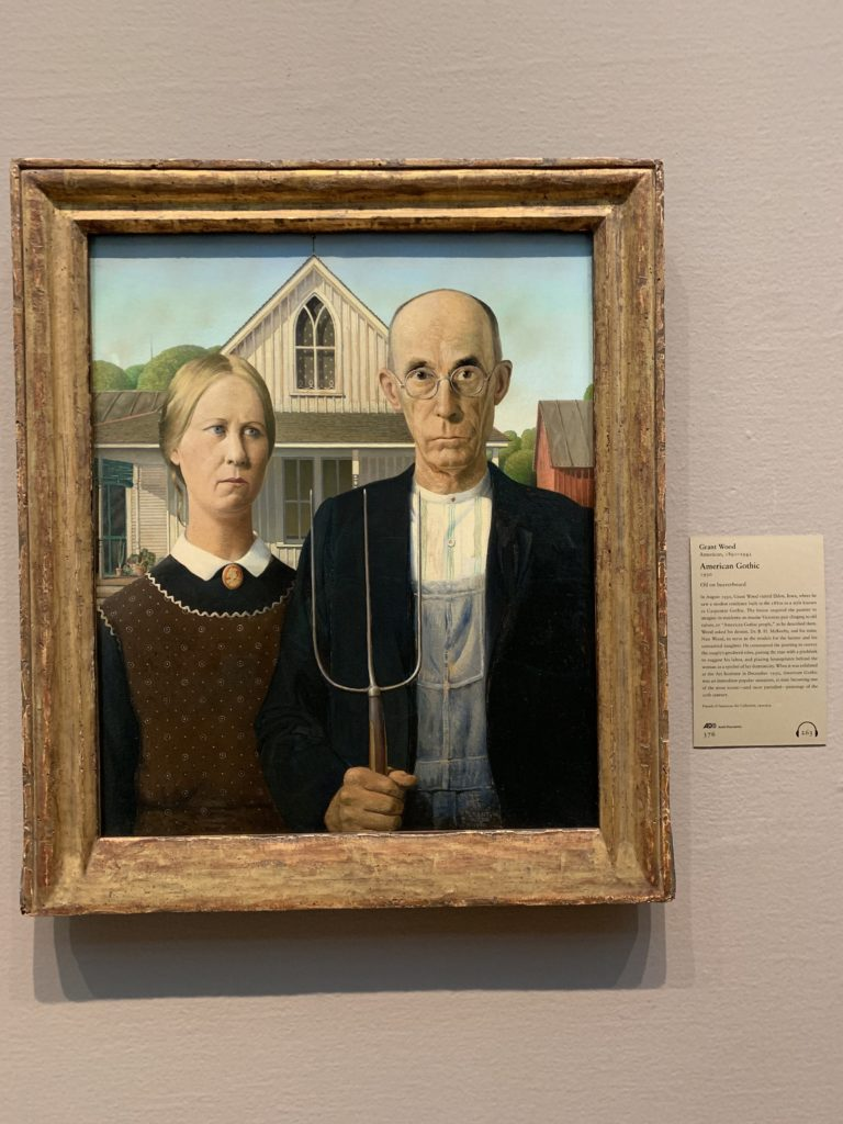Grant Wood - American Gothic, Art of Institute Chicago