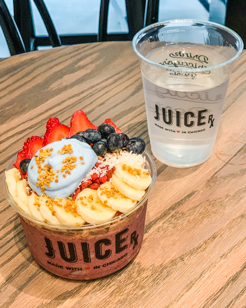 Acai bowl in Juice Rx in Chicago