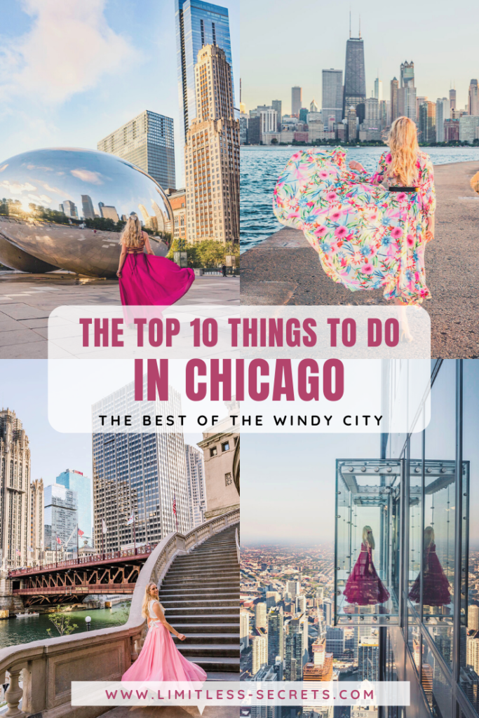 Here are the top 10 Things to do in Chicago! Chicago in Illinois (USA) is an amazing city and you will love to visit it! To help you plan your trip to the Windy City I have gathered here a list of the 10 best things to see and do in Chicago! Chicago travel guides | Chicago photography | Chicago trip | What to do in Chicago | Best of Chicago | Chicago activities