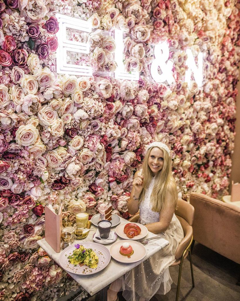 Flower Wall Elan Cafe London