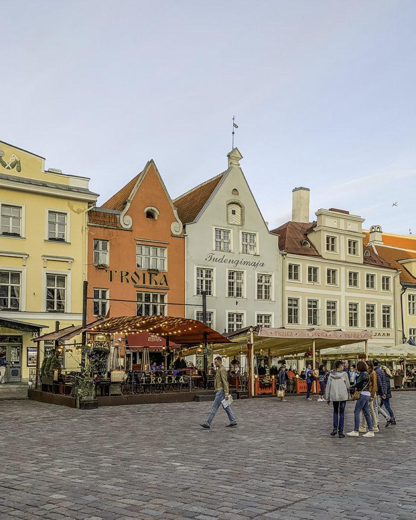 Houses, Raekoja Platz - Tallinn, Estonia