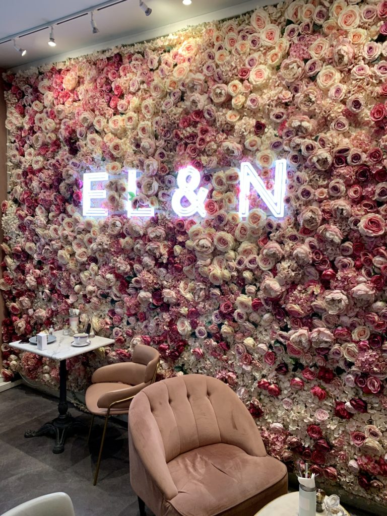 Flower Wall Elan Cafe London
