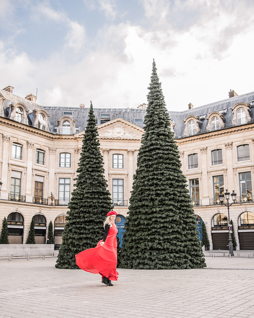 Christmas trees Place Vendôme Paris 2018