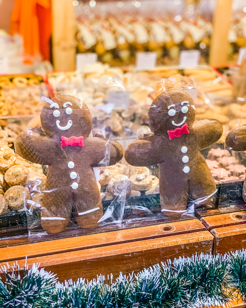 Gingerbread men in the Christmas market Strasbourg - Alsace