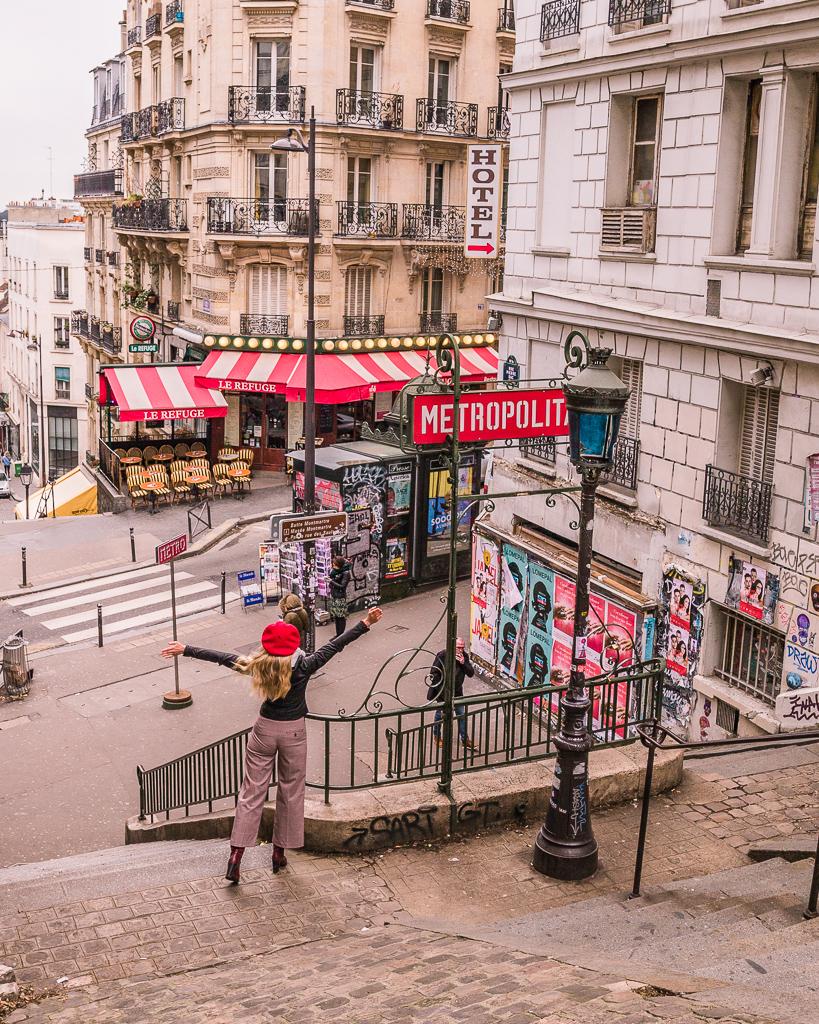 Station metro Lamarck-Caulaincourt - Montmartre, Paris