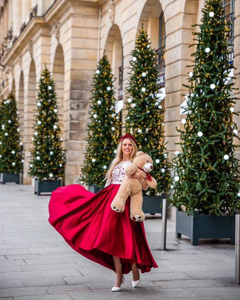Christmas trees Place Vendôme - Christmas in Paris