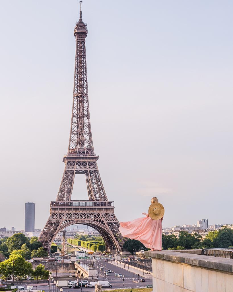 Trocadero with Eiffel Tower - Paris