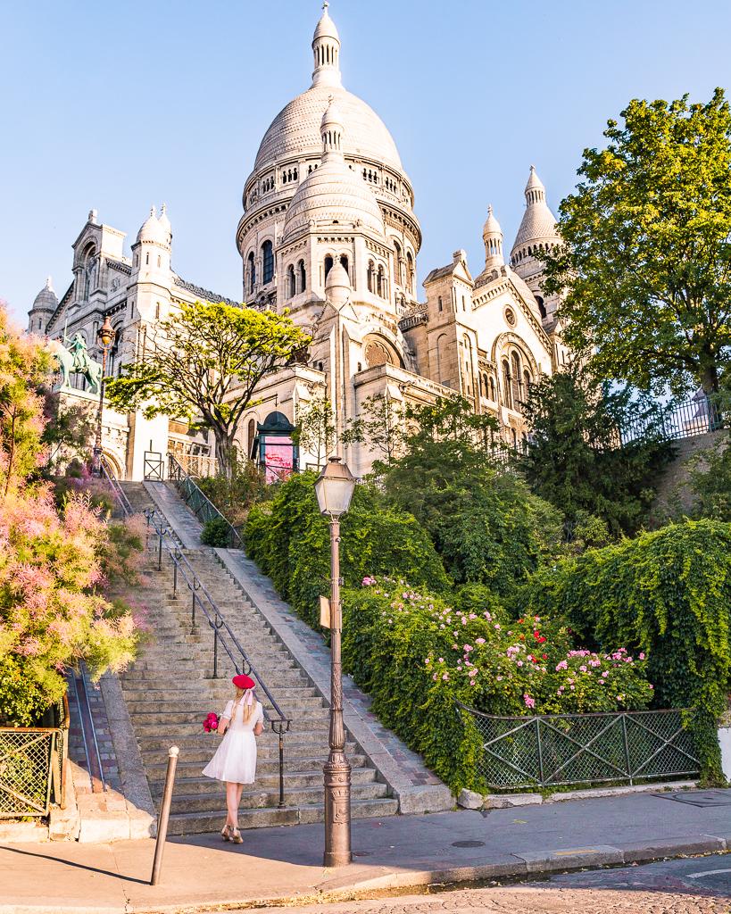 Stairs and Sacré-Coeur - Montmartre, Paris