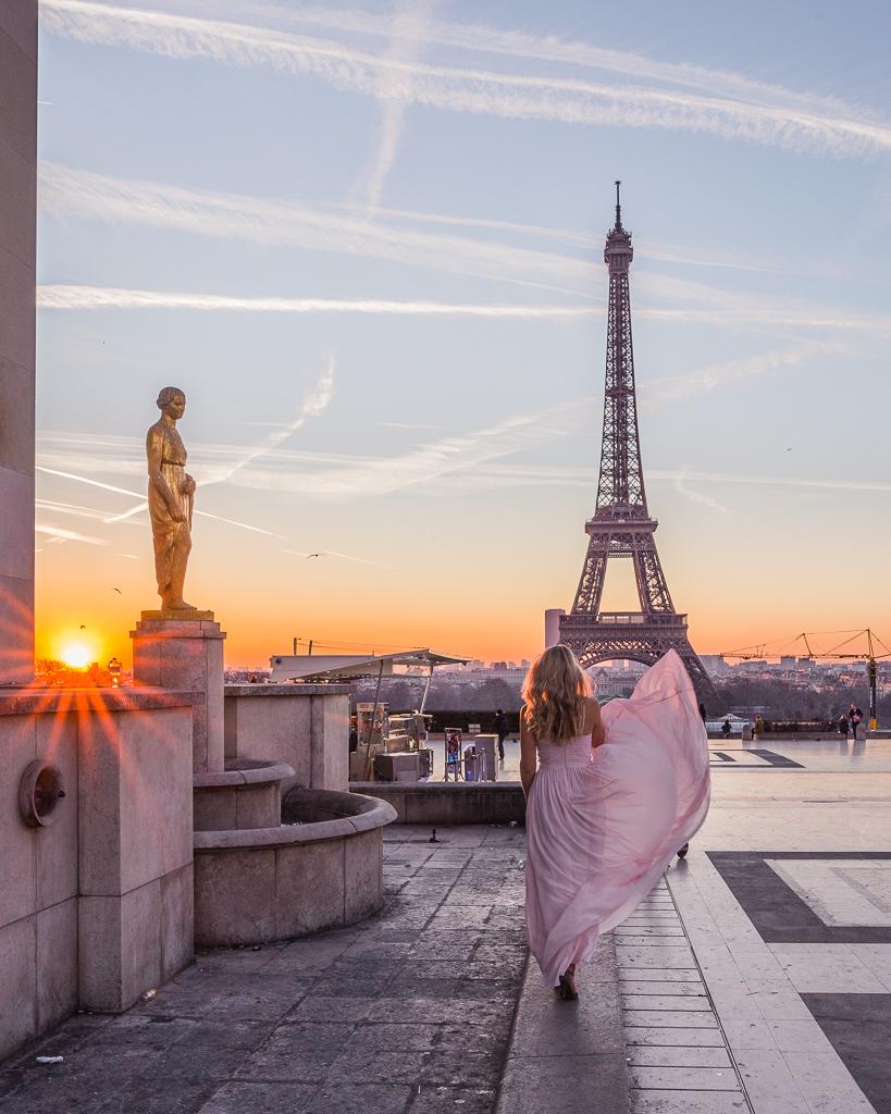 Esplanade du Trocadero Eiffel Tower - Paris