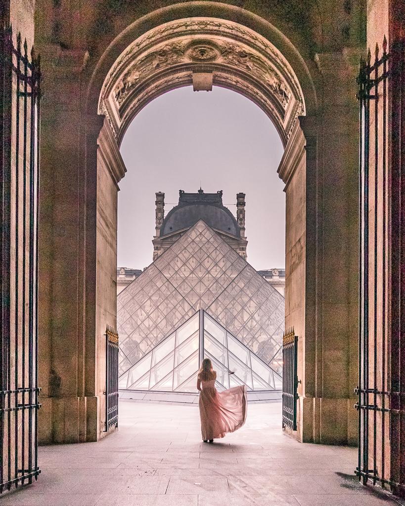 Entrance of the Louvre Museum - Paris