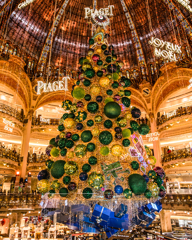 Galeries Lafayette Christmas tree Paris 2018