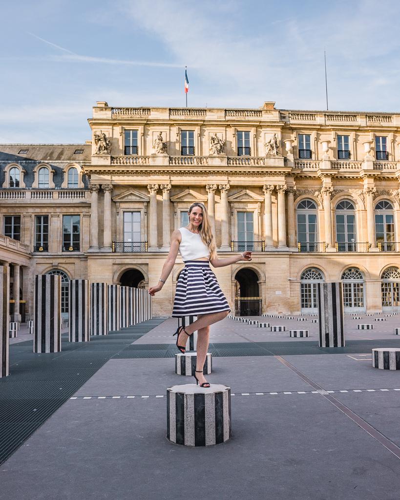 Colonnes de Buren in Palais Royal - Paris