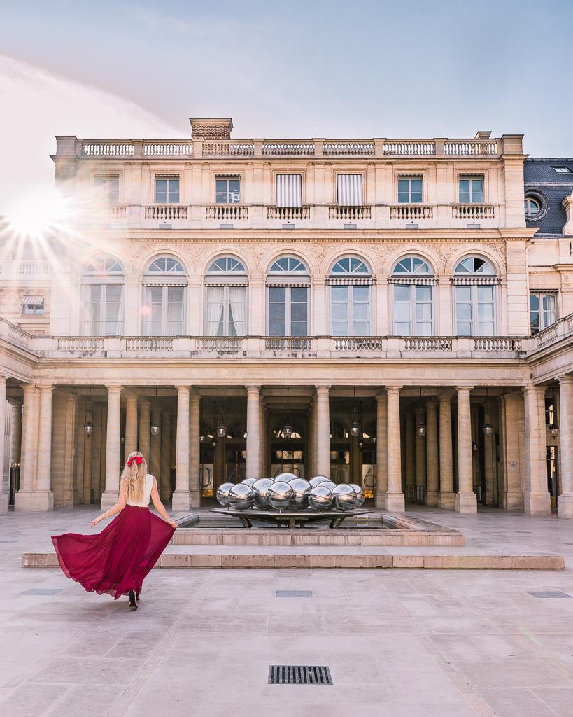 Sphérades Fountain in Palais Royal - Paris