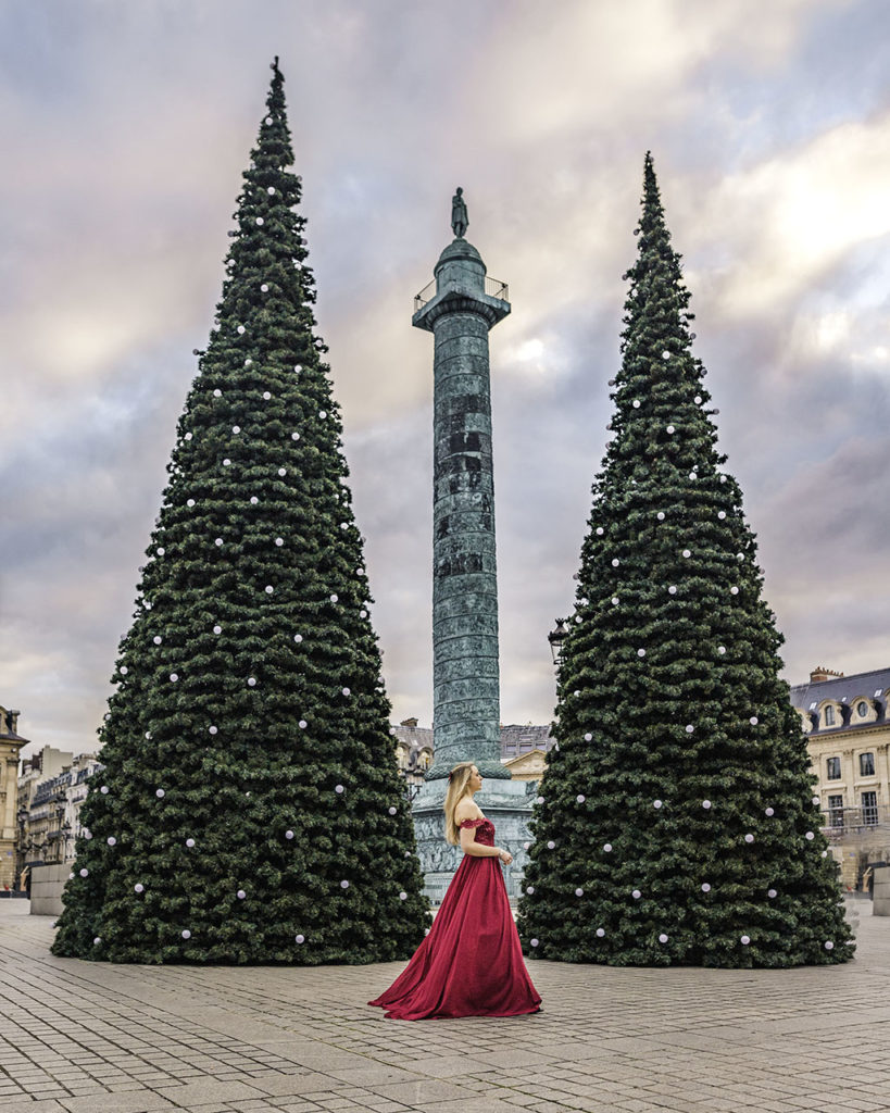 Christmas trees Place Vendôme Paris 2019