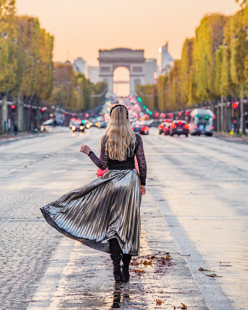 Arc de Triomphe and Champs Elysées- Paris