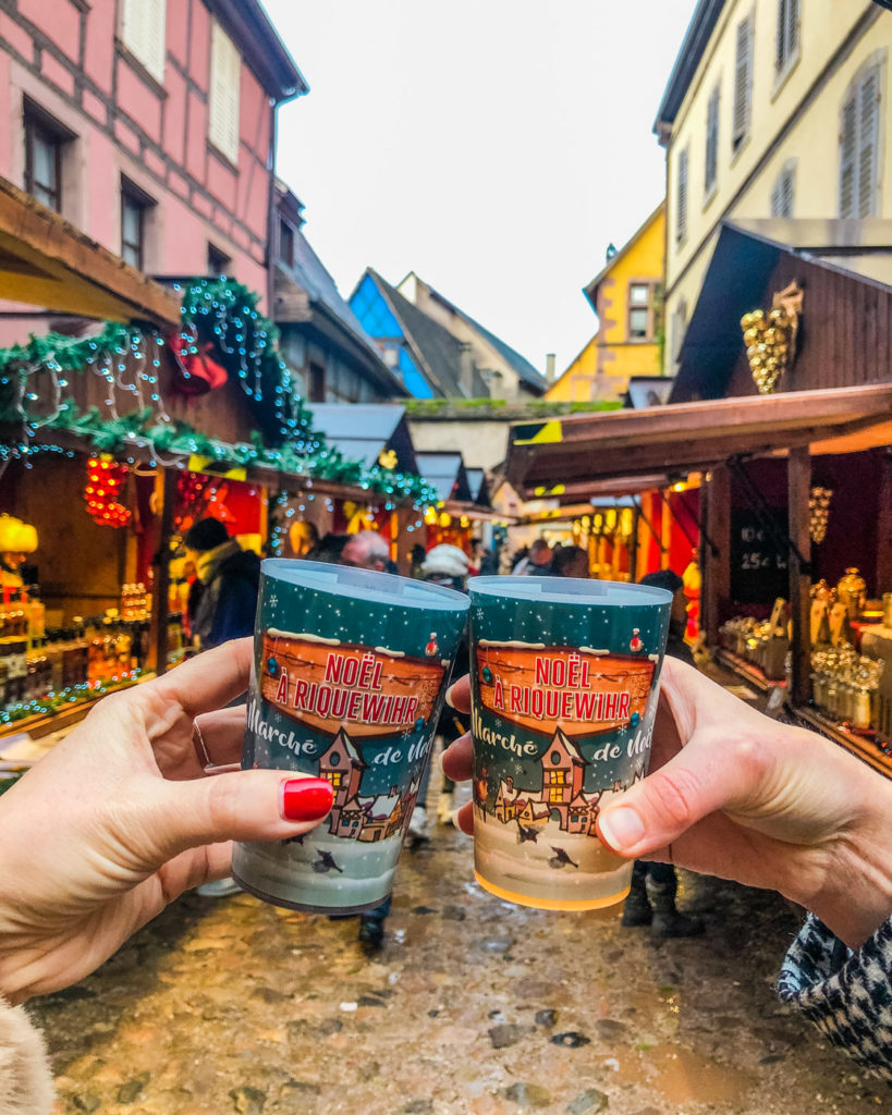 Mulled wine at the Christmas market in Riquewihr - Alsace