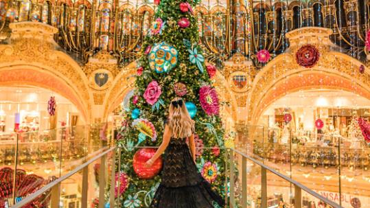 Galeries Lafayette Christmas tree Paris 2019