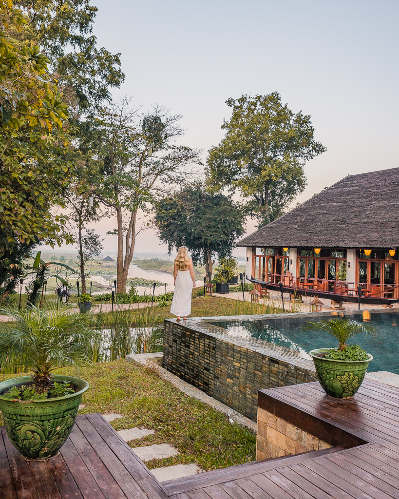 Villa Inle Boutique Resort, swimming pool - Inle Lake, Myanmar