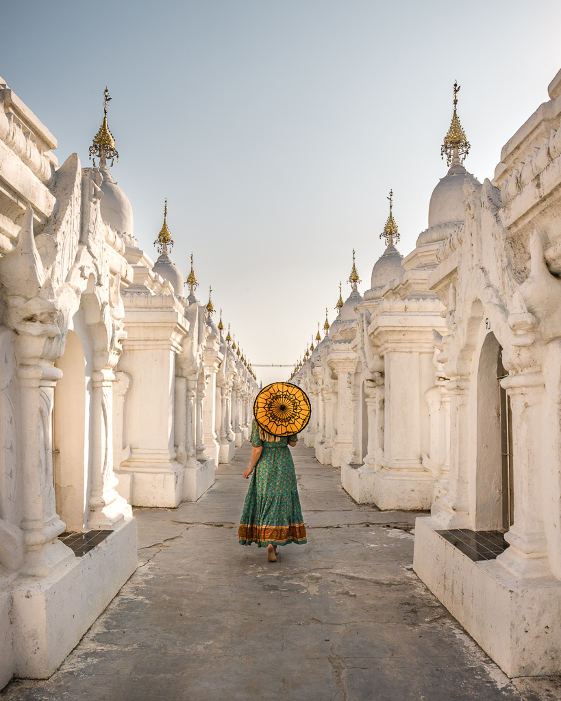 Kuthodaw Pagoda in Mandalay, Myanmar