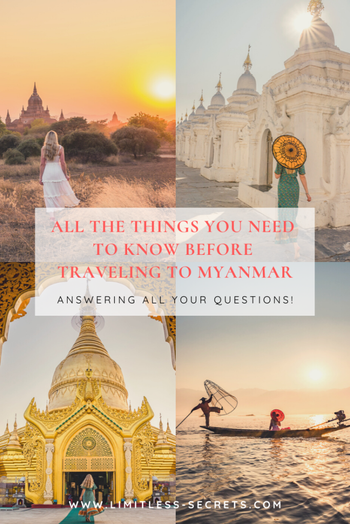 All the things you need to know before traveling to Myanmar