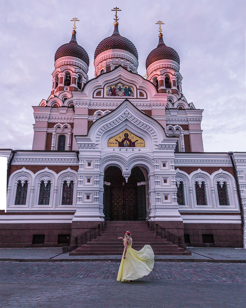 St. Alexander Nevsky Cathedral - front - Tallinn, Estonia.