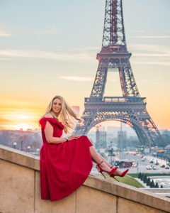 Ophelie @limitlesssecrets at the Eiffel Tower