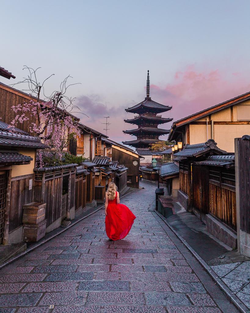 Higashiyama District in Kyoto, Japan