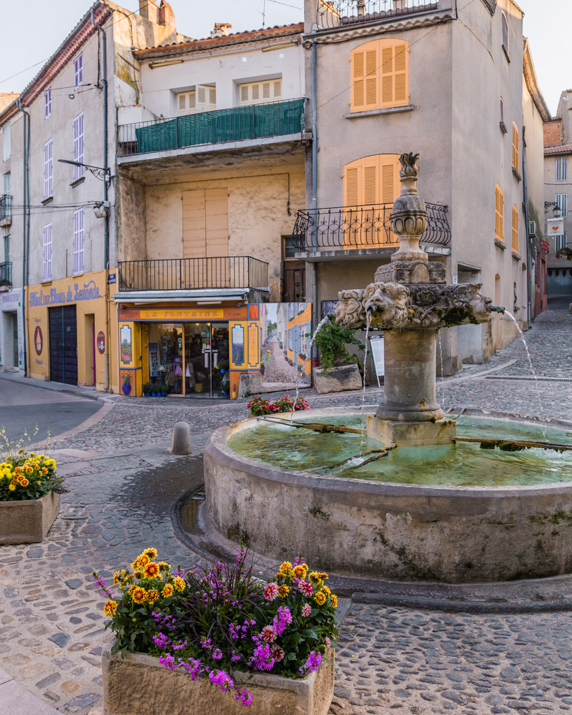 Fountain in Valensole in Provence, France
