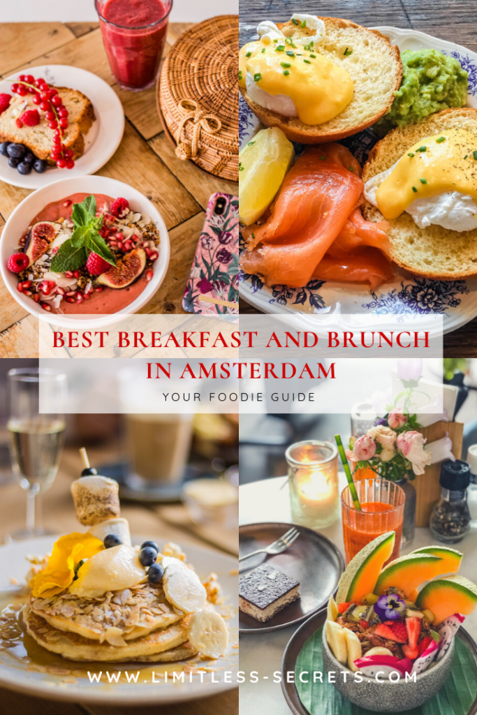 Best Breakfast and Brunch in Amsterdam. Click here to get the best places for brunch and breakfast in Amsterdam! I lived in Amsterdam for 2 years and I am a French foodie, so I went on a hunt for the cafes and lunchrooms that could satisfy my taste buds. Great news: I found many and I am sharing them with you! #amsterdam #nederlands #netherlands #holland #brunch #breakfast | Amsterdam travel guide | What to do in Amsterdam | Where to eat in Amsterdam | Amsterdam foodie guide | Amsterdam restaurants | Amsterdam tourism