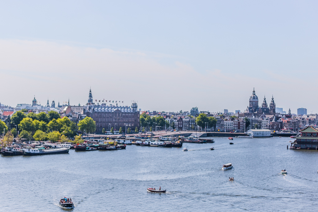 View of Amsterdam from the NEMO rooftop in Amsterdam