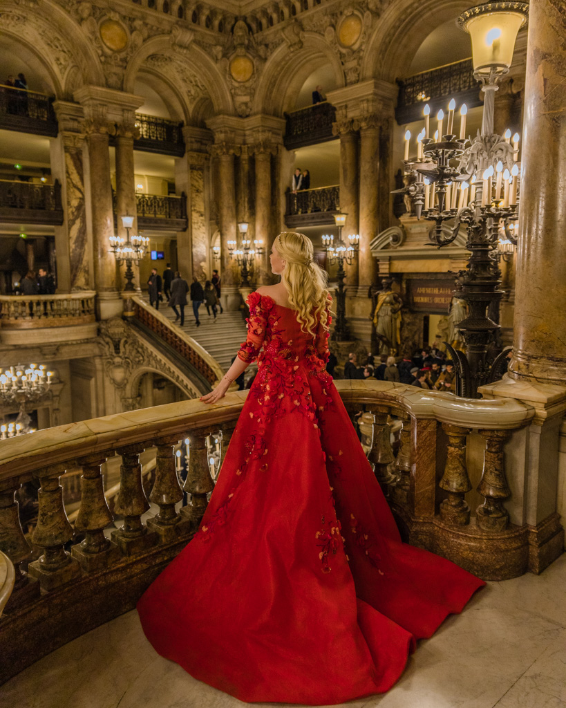 Photoshoot at the Opera Garnier, Paris