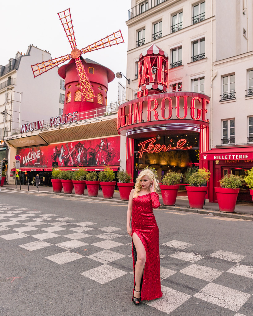 Photoshoot at the Moulin Rouge, Paris
