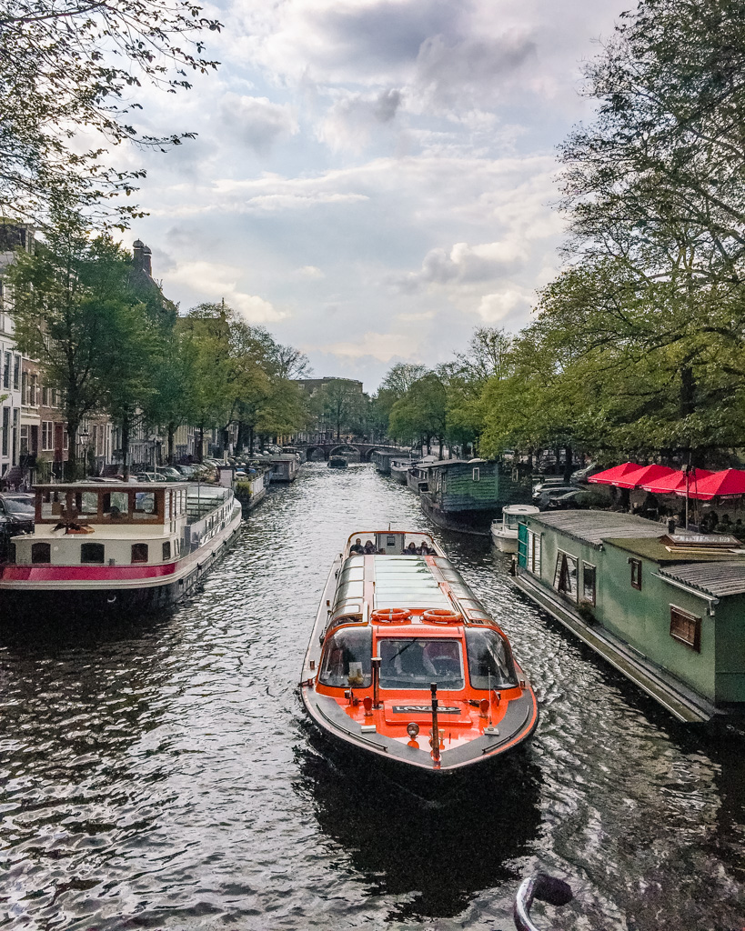 Boat cruise on the canals in Amsterdam - The Netherlands