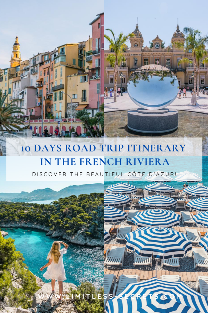 10 Days in the French Riviera: your Road Trip Itinerary. Get the best of the Côte d'Azur in the South of France! The French Riviera has so many assets that you will want to visit again and again! #frenchriviera #cotedazur #france #southoffrance #lesud | French Riviera travel guides | What to do in the French Riviera | What to see in the French Riviera | French Riviera tourism | French Riviera trip | Best things to do in the French Riviera | Cities in the French Riviera | PACA travel guides