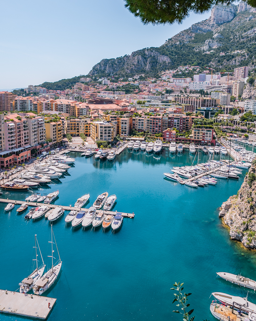 View of the marina in Monaco - French Riviera