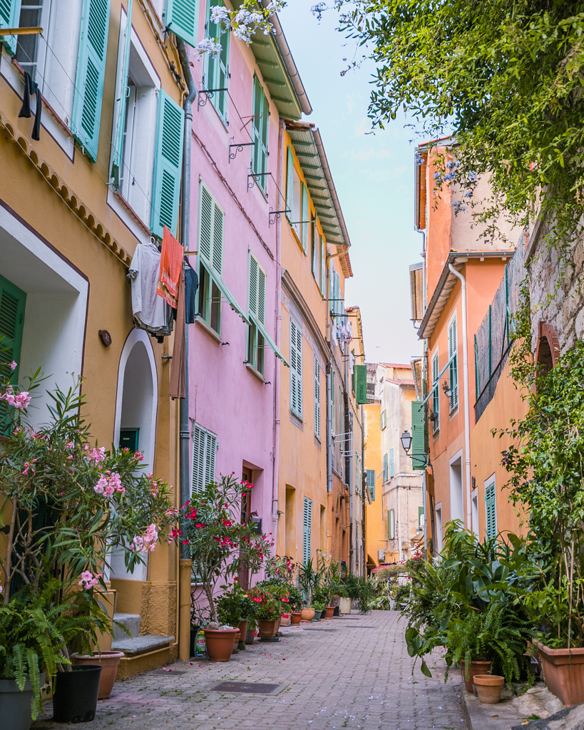 Pastel streets in Villefranche-sur-Mer - French Riviera
