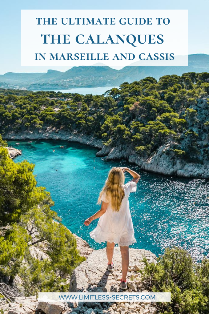 The Calanques are a must-see natural wonder in France! In this ultimate guide, get all the info you need to visit the Calanques in Marseille and Cassis. #calanques #calanque #marseille #cassis #france #frenchriviera #cotedazur #portmiou #portpin #envau | Visit the calanques | Calanque de Port-Miou | Calanque de Port-Pin | Calanque d'En-Vau | Hike in the Calanques | Marseille travel guides | Marseille tourism | Things to do in Marseille | Calanques National Park