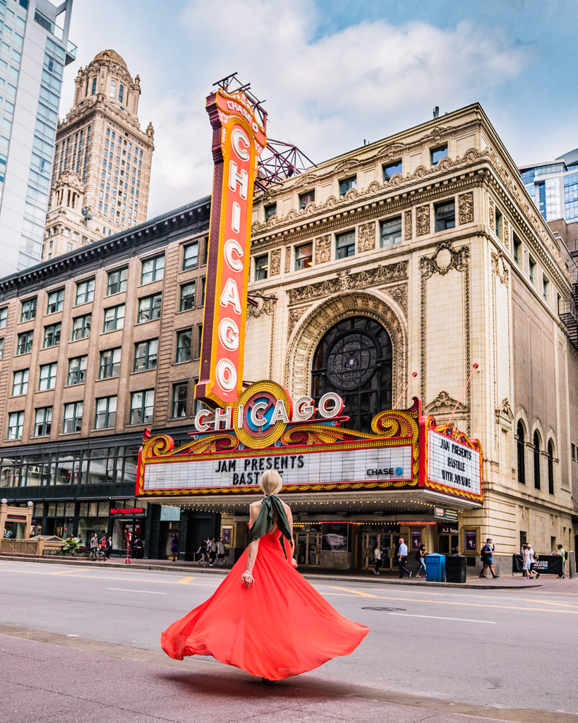 The Chicago Theater in Chicago