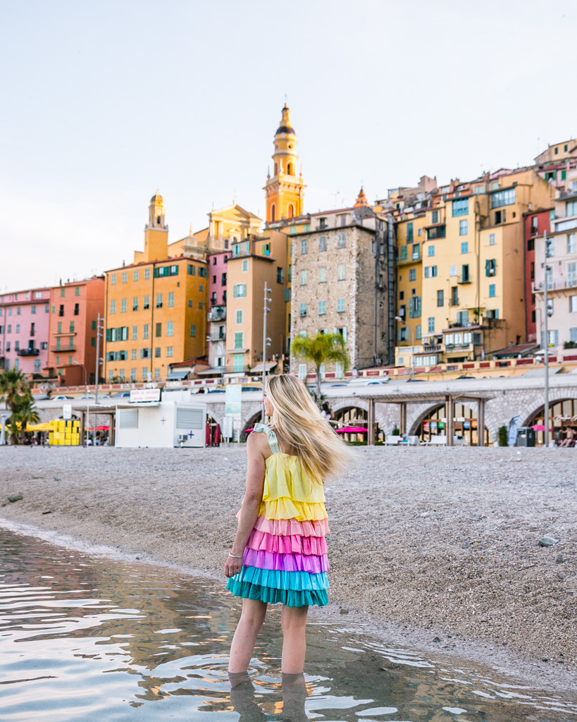 The beach in Menton - French Riviera